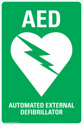 AED Automated External Defibrillator Safety Sign & Stickers