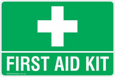 First Aid Kit Safety Signs & Stickers Safety Sign - First Aid ...