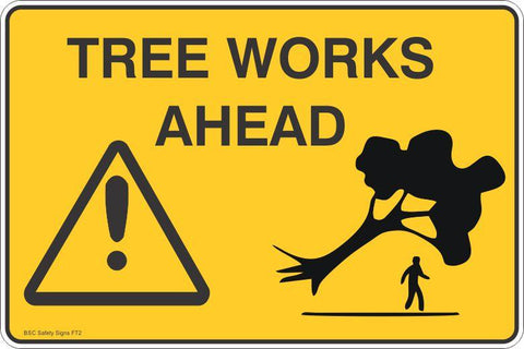 Tree Works Ahead Safety Signs and Stickers