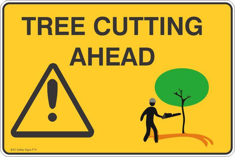 Tree Cutting Ahead Safety Signs and Stickers