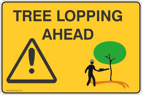 Tree Lopping Ahead Safety Signs and Stickers