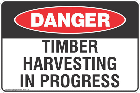 Timber Harvesting in Progress Safety Signs and Stickers