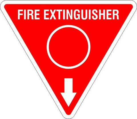 This Fire Extinguisher Red Circle  Safety Signs and Stickers