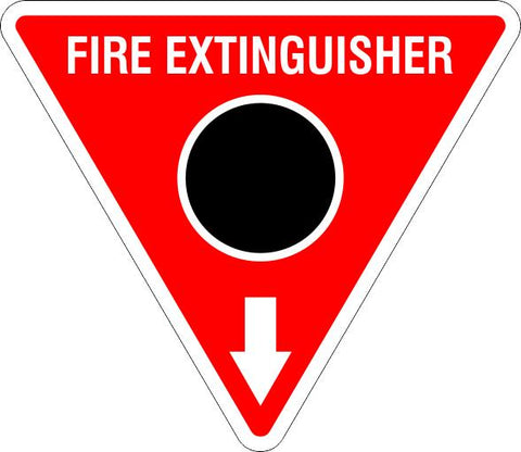This Fire Extinguisher Black Circle  Safety Signs and Stickers