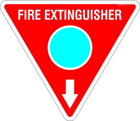 This Fire Extinguisher Foam Cyan Circle Safety Signs and Stickers