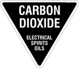 Carbon Dioxide Triangle Safety Signs and Stickers