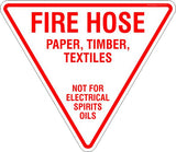 Fire Hose Triangle Safety Signs and Stickers