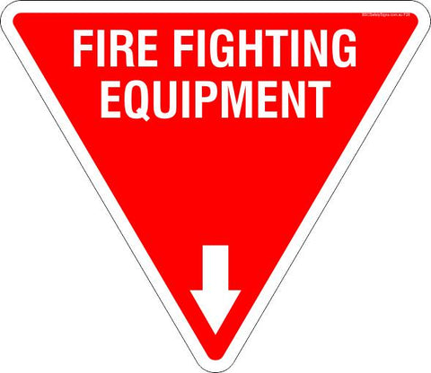 Fire Fighting Equipment Triangle Safety Signs and Stickers