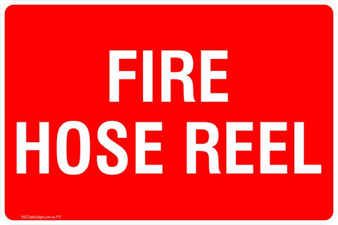 This Fire Extinguisher - Fire Rose Reel 2 Safety Signs and Stickers