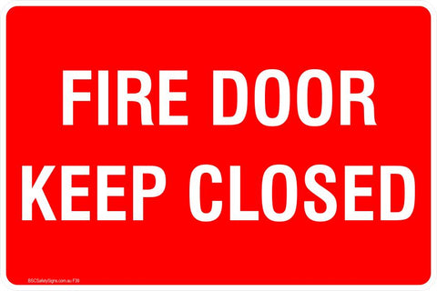 This Fire Extinguisher - Fire Door Kepp Closed  Safety Signs and Stickers