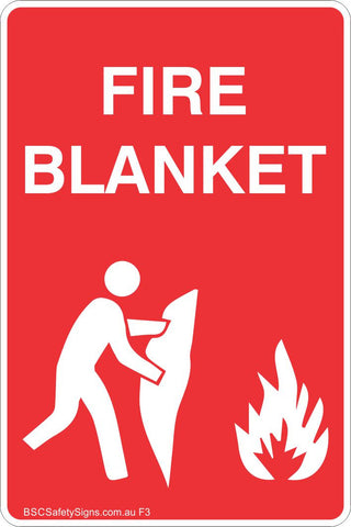 Fire Blanket 2 Safety Sign