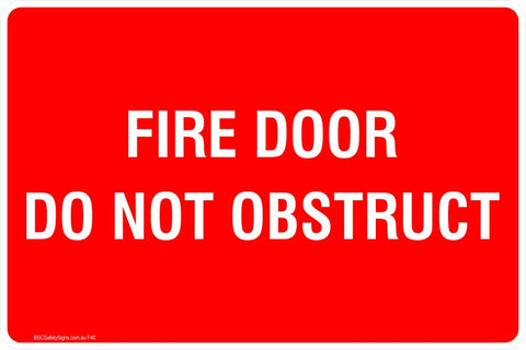 Fire Door Do Not Obstruct Safety Signs and Stickers