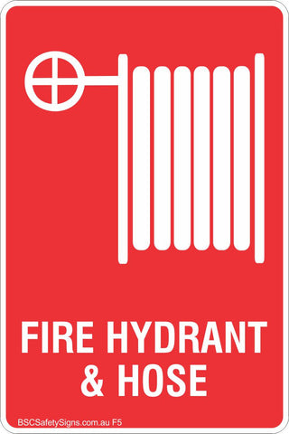 Fire Hydrant & Hose Safety Sign