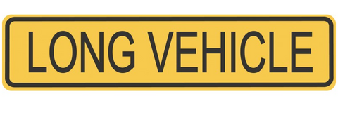 Long Vehicle Sign 1200 x 300