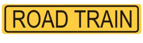 Road Train Sign 1200 x 250