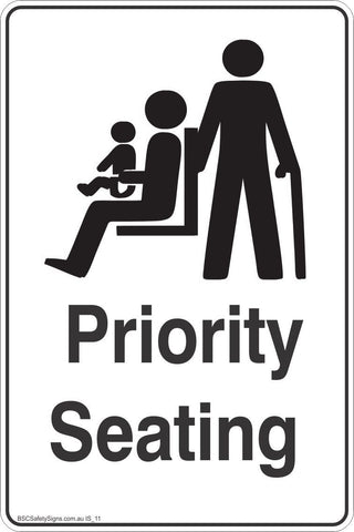 Information Priority Seating  Safety Signs and Stickers