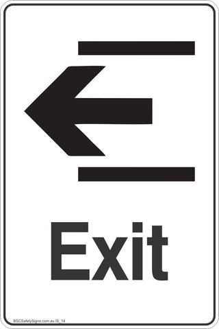 Information Exit Left Arrow Safety Signs and Stickers