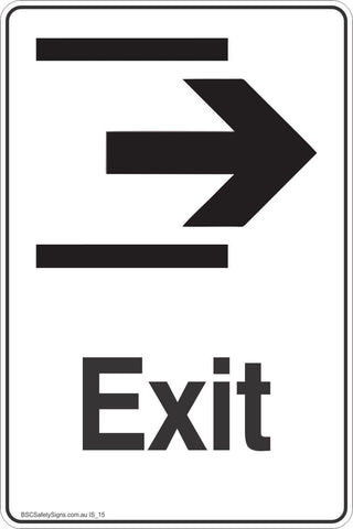 Information Exit Right Arrow Safety Signs and Stickers