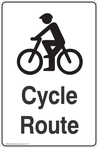 Information Cycle Route Safety Signs and Stickers