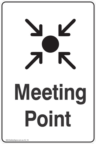 Information Meeting Point Safety Signs and Stickers