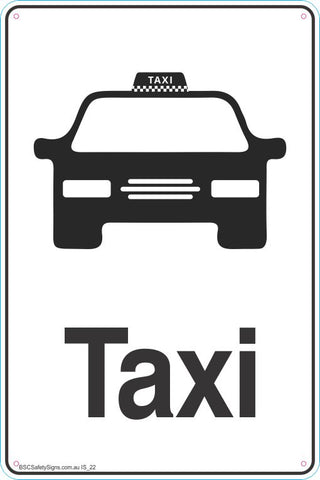 Information Taxi Safety Signs and Stickers