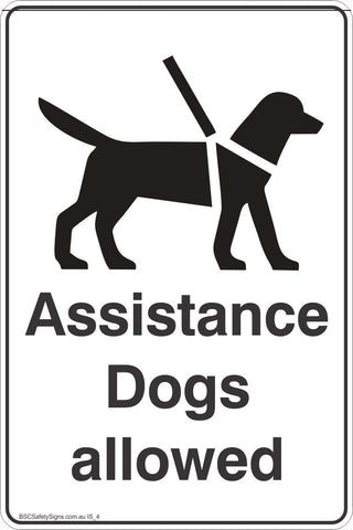 Information Assistance Dogs Allowed  Safety Signs and Stickers