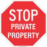 Stop! Private Property  Safety Signs and Stickers