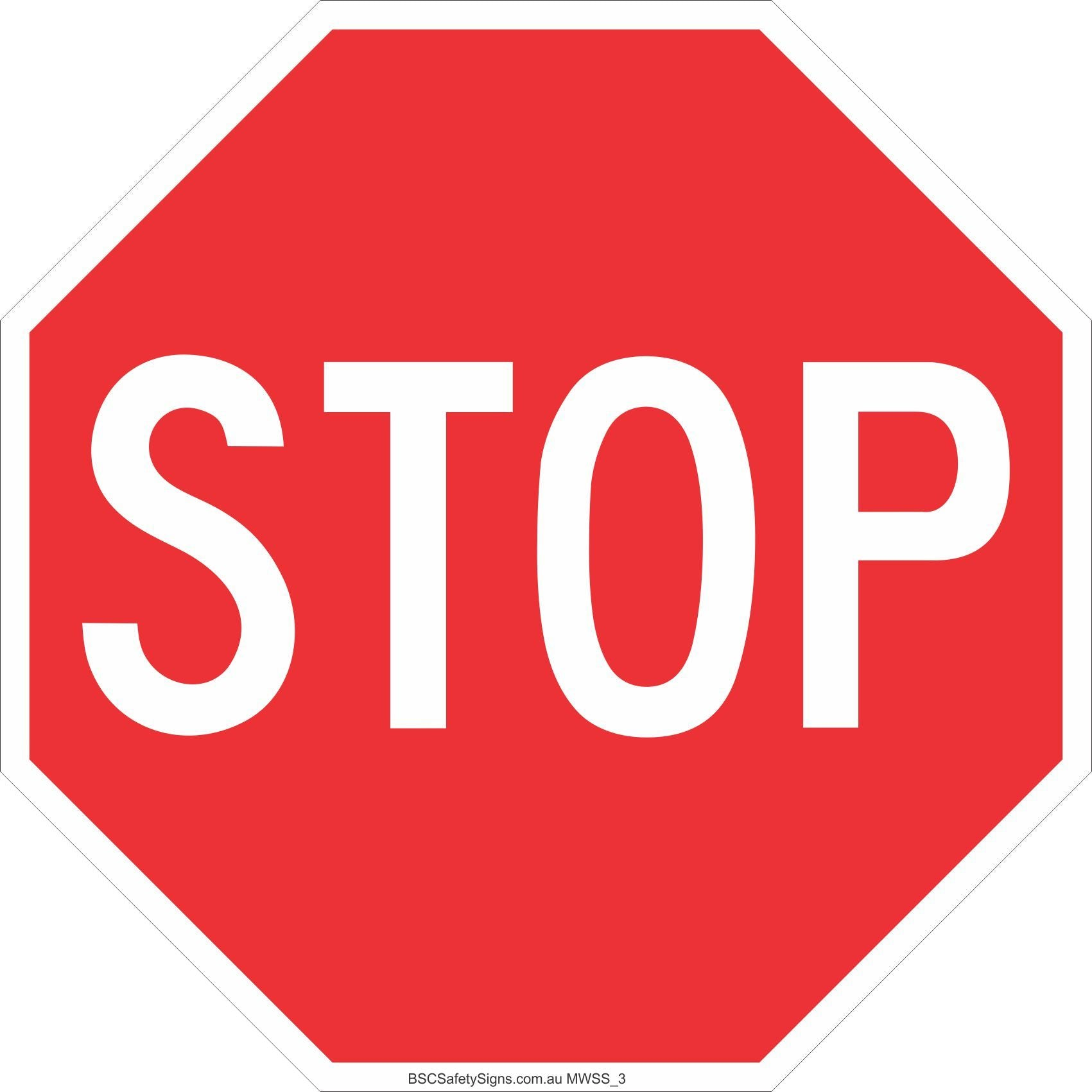 Stop 600 x 600 Safety Signs and Stickers