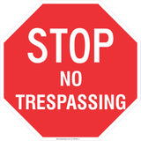 Stop! No Trespassing  Safety Signs and Stickers