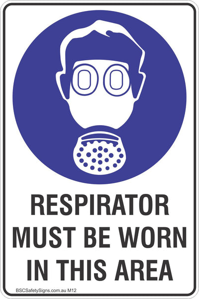 Respirator Must Be Worn In This Area Safety Sign
