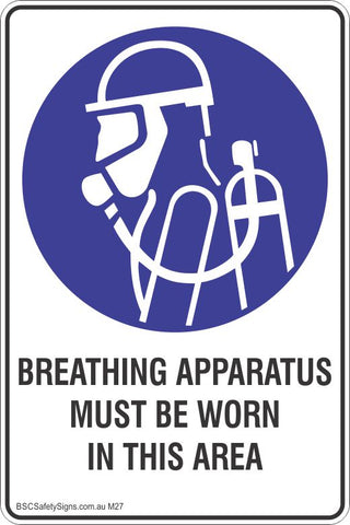 Breathing Apparatus Must Be Worn In This Area Mandatory Safety Signs and Stickers