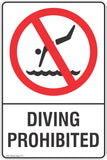 Diving Prohibited Safety Sign