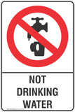 Not Drinking Water Safety Sign