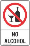 No Alcohol Safety Sign
