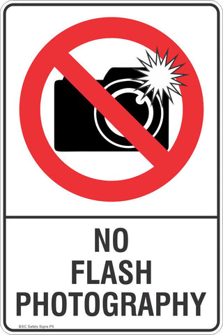 No Flash Photography Safety Sign