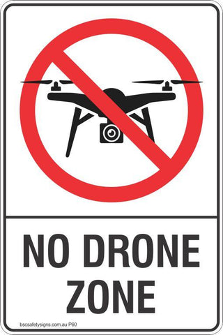 Prohibition No Drone Zone Safety Signs and Stickers