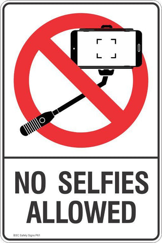Prohibition No Selfies Allowed Safety Signs and Stickers