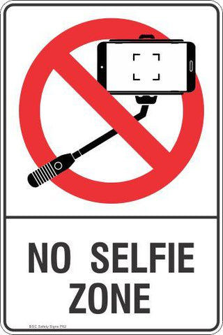 Prohibition No Selfie Zone Safety Signs and Stickers