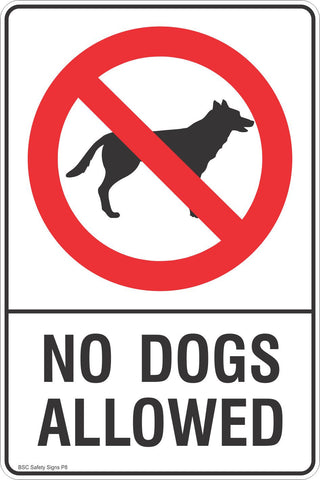 No Dogs Allowed Safety Sign