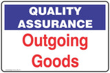 Quality Assurance Isolated Area Safety Signs and Stickers