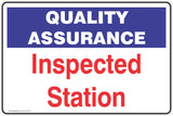 Quality Assurance Inspected Station Safety Signs and Stickers