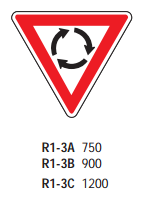 Roundabout Give Way R1-3