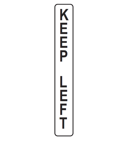 KEEP LEFT (vertical marker) R2-209