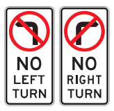 NO LEFT TURN / NO RIGHT TURN (Left / Right) R2-6