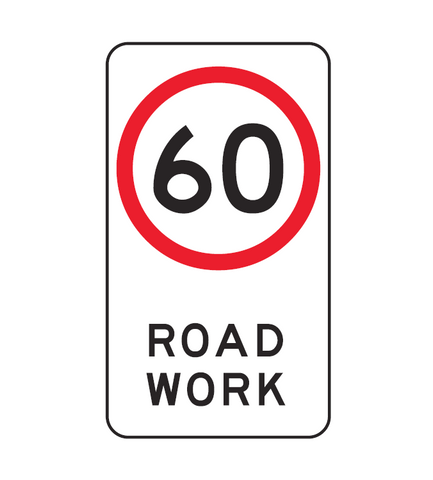 SPEED LIMIT ROAD WORK (symbolic) R4-212 Road Sign