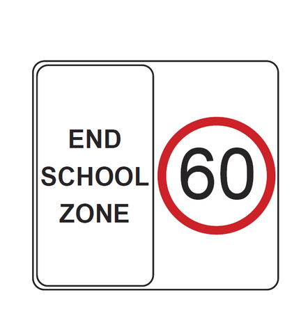 END SCHOOL ZONE R4-231 Road Sign