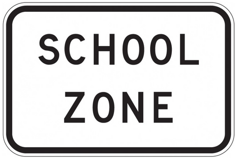 SCHOOL ZONE R4-8 Sign