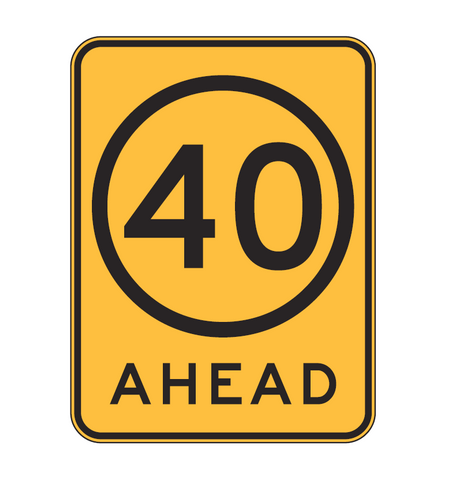 SPEED LIMIT AHEAD (symbolic) R4-V108 Road Sign