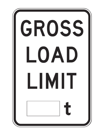 GROSS LOAD LIMIT _t R6-4 Road Sign