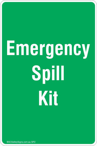 Emergency Spill Kit Safety Sign